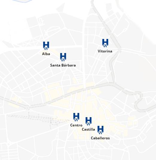 Mapa de Hoteles en Soria Capital